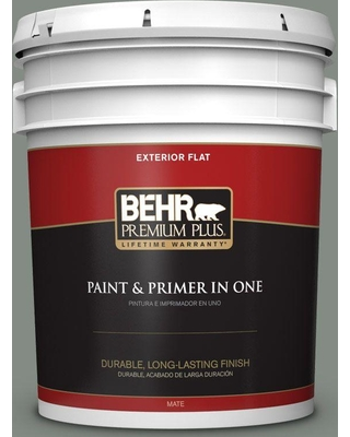 BEHR Premium Plus 5 gal. #710F-5 Valley Hills Flat Exterior Paint and Primer in One