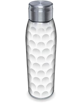 Tervis Golf Ball Texture Double-Walled Insulated Tumbler, 17oz Water Bottle, Stainless Steel