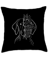 Shorthaired Terriers GSP Gift German Shorthair Pointer   GSP MOM   Gift Mother Women Throw Pillow, 18x18, Multicolor