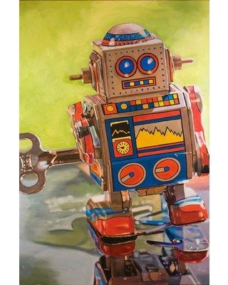 Hot Bargains! 29% Off East Urban Home 'Mini Robot' Painting on