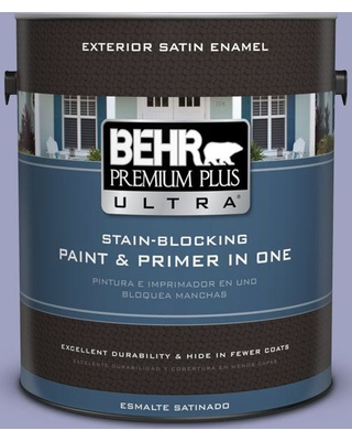 BEHR ULTRA 1 gal. #630D-4 Ruffled Iris Satin Enamel Exterior Paint and Primer in One
