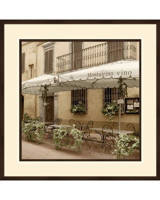 """PTM 'European Cafe' - Picture Frame Photographic Print on Paper, Paper, Size Medium 25""""-32"""" Large 33""""-40"""" 