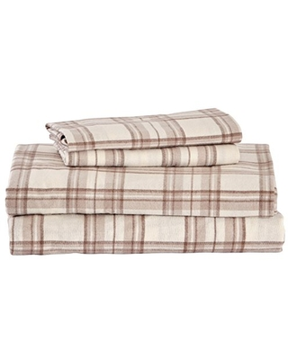 The Best Sales For Amazon Brand Stone Beam Rustic 100 Cotton Plaid Flannel Bed Sheet Set Easy Care California King Ivory And Cream