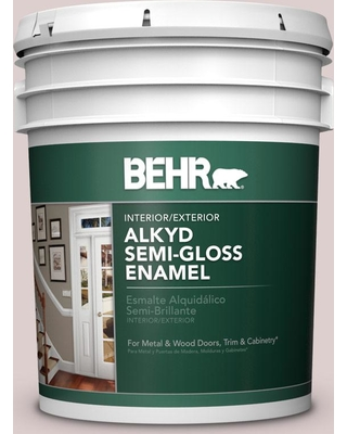 BEHR 5 gal. #N130-1 Pearls and Lace Urethane Alkyd Semi-Gloss Enamel Interior/Exterior Paint