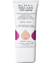 Almay Smart Shade Anti-Aging Skintone Matching Makeup Foundation 300 Straight up Medium - 1 fl oz