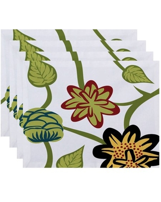 """Simply Daisy 18"""" x 14"""" Tropical Floral Floral Print Placemat"""