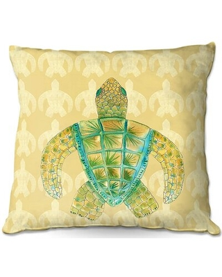 """Couch Tomas Sea Turtle Square Throw Pillow East Urban Home Size: 16"""" x 16"""""""