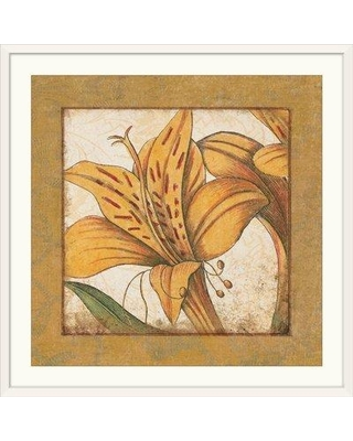 "Great Big Canvas 'Lily Bloom' Graphic Art Print 1052562_1 Size: 24"" H x 24"" W x 1"" D Format: White Framed"