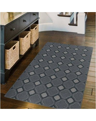 "Wrought Studio Fitz Trellis Moroccan Lattice Inspired Dusty Blue Area Rug BF032266 Rug Size: Rectangle 2'6"" x 3'10"""