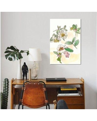"East Urban Home 'Camellia Study' Oil Painting Print on Wrapped Canvas ESUH7906 Size: 26"" H x 18"" W x 0.75"" D"