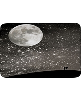 "Shannon Clark Love Under The Stars Cushion Bath Mat (36""x24"") Black - Deny Designs"