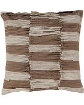 """Union Rustic Maolis Rustic Ruffle Cotton Throw Pillow UNRS4137 Size: 18"""", Fill Material: Down"""