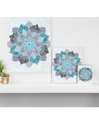 "East Urban Home 'Petunia Mandala' Graphic Art on Wrapped Canvas EAUH5096 Size: 10"" H x 8"" W x 1.5"" D"