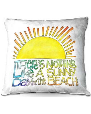 Discover Deals On Oakes Couch Sunny Day At Beach Throw Pillow Winston Porter Size 18 X 18