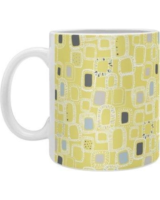 East Urban Home Shapes And Squares Coffee Mug EHME7775 Color: Green