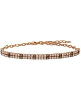 Le Vian Strawberry Gold 1/2 ct. t.w. Chocolate Diamonds and 2 ct. t.w. Nude Diamonds Adjustable Bracelet set in 14k Strawberry Gold