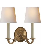 Visual Comfort and Co. Thomas O'Brien Channing 15 Inch Wall Sconce - TOB 2121HAB-NP