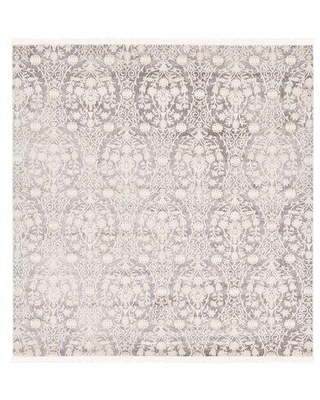 RugPal Classique Geometric Gray Area Rug 185 Rug Size: Square 4'