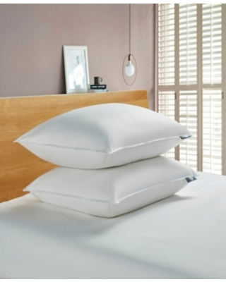 Serta White Goose Feather And Down Fiber Bed Pillow-Back Sleeper - 2 Pack, Jumbo