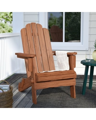 Imane Wood Folding Adirondack Chair Color: Brown