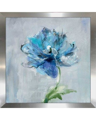 "Alcott Hill 'Floral Bloom II v2' Framed Acrylic Painting Print on Wrapped Canvas ALTH5954 Size: 21.5"" H x 21.5"" W x 0.75"" D Format: Framed Plexiglass"