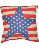 Cheungs Stars and Stripes Linen Throw Pillow FP-3263F