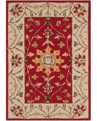 Safavieh Easy Care Red/Ivory 3 ft. x 5 ft. Area Rug