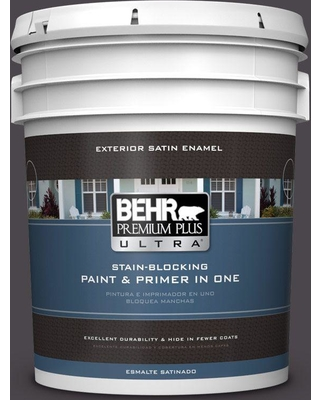 BEHR Premium Plus Ultra 5 gal. #N550-7 Catwalk Satin Enamel Exterior Paint and Primer in One