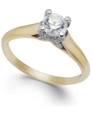 X3 Certified Diamond Engagement Ring (1/2 ct. t.w.) in 18k White or Yellow Gold, Created for Macy's