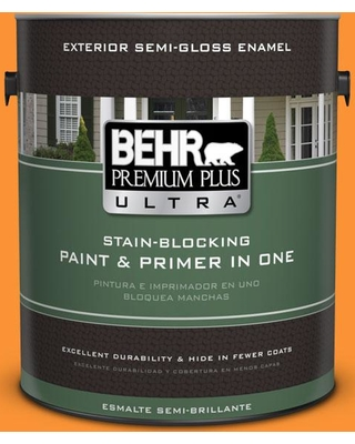 Here S A Great Deal On Behr Ultra 1 Gal P240 7 Joyful Orange Semi Gloss Enamel Exterior Paint And Primer In One