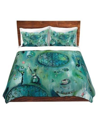 East Urban Home Windows To Another World Duvet Cover Set W000177170 Size: 1 King Duvet Cover + 2 King Shams