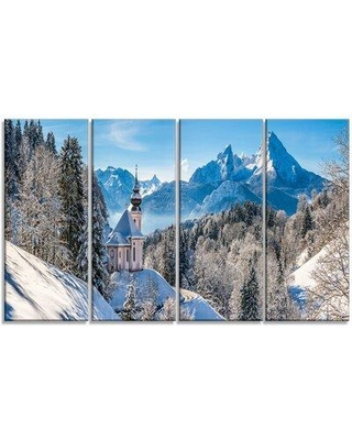 Design Art 'Winter in the Bavarian Alps' Photographic Print Multi-Piece Image on Canvas PT15170-271