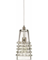 """Jamie Young Ribbon 6"""" Wide Clear Glass Long Mini Pendant"""