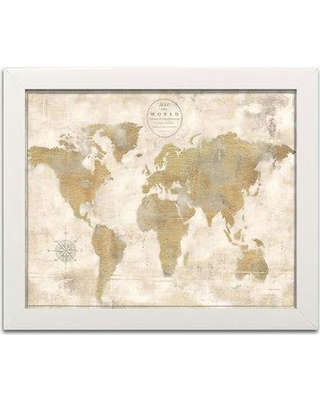 Fall Sale: Winston Porter Lovely \'Rustic World Map\' 2 Piece Graphic ...