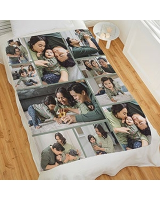 Photo Collage For Baby Personalized 50x60 Plush Fleece Photo Blanket