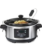 Hamilton Beach Set 'n Forget Programmable Slow Cooker With Temperature Probe, 6-Quart (33969A)