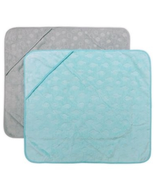 Neat Solutions® 2-Pack Fish Hooded Towels in Teal/Grey