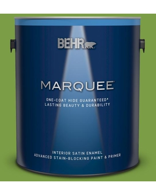 BEHR MARQUEE 1 gal. #420B-7 Pepper Grass Satin Enamel Interior Paint and Primer in One