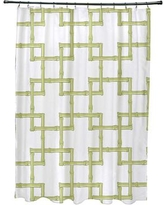 Bay Isle Home Connelly Polyester Bamboo 2 Geometric Shower Curtain BAYI5706 Color: Green