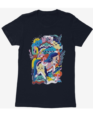BL Creators: Happyminders People Abstract Womens T-Shirt