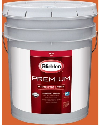 Glidden Premium 5 gal. #HDGO14D Calypso Coral Flat Interior Paint with Primer