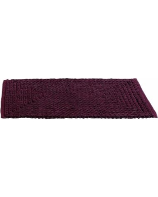 VCNY Barron Chenille Bath Rug Runner, Red, 24X60