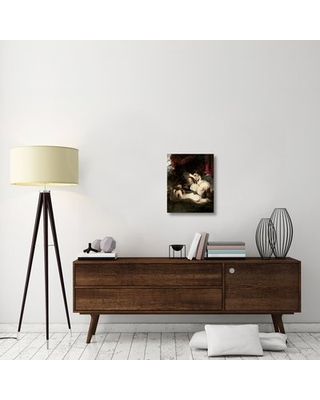 """'Venus and Amor' Graphic Art Print on Canvas East Urban Home Size: 22"""" H x 17"""" W x 1.5"""" D"""