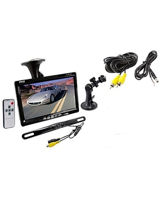 """Pyle PLCM7500 7"""" Window Suction Mount TFT/LCD Video Monitor w/Universal Mount Backup Color Camera"""