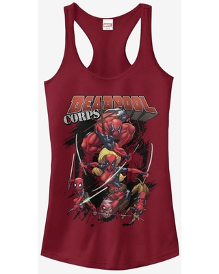 Marvel Deadpool Corps Girls Tanks