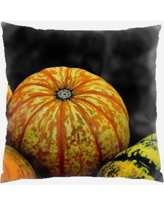 The Holiday Aisle Wirth Pumpkins Indoor/Outdoor Throw Pillow W000551995 Color: Black
