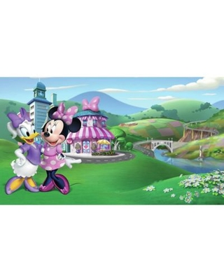 RoomMates® Disney® Minnie Mouse Happy Helpers Chair Rail Pre-Pasted Mural