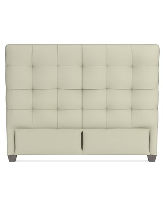 """Gable 47"""" Headboard Only, Queen, Faux Suede, Stone, Grey Leg"""