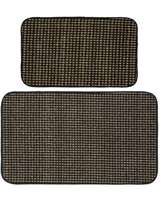 Garland Rug Berber Coloriations 2pc Kitchen Rug Set 18 in. x 30 in. & 24 in. x 40 in. Black