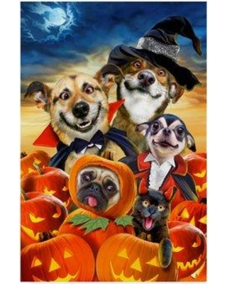 Cant Miss Deals On Trademark Art Spooky Puppies Print On Canvas